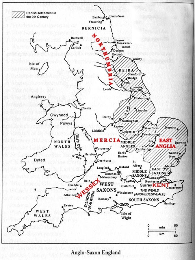 Map Of England King Alfred.Historical Maps Of The British Isles