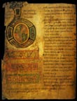 first page of Bede's _Historia Ecclesiastica Gentis Anglorum_  [BL Cotton MS Tiberius C.II-f5v (9th-c Canterbury)]