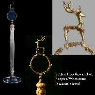 Royal Hart/Stag Whetstone/sceptre from Sutton Hoo
